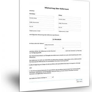Mietvertrag über Kellerraum