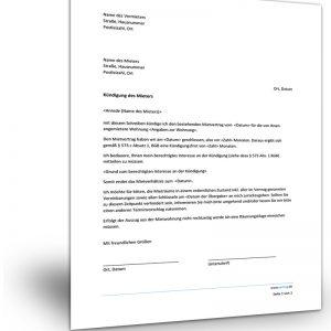 Kündigung Mietvertrag Vermieter an Mieter