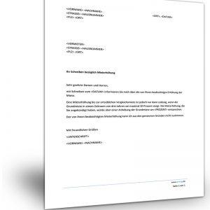 Ankundigung Mieterhohung Muster Vorlage Zum Download